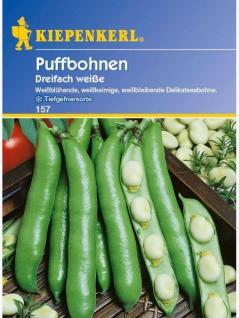 Puffbohnen Grosse Bohnen Dreifach Weiße 1kg