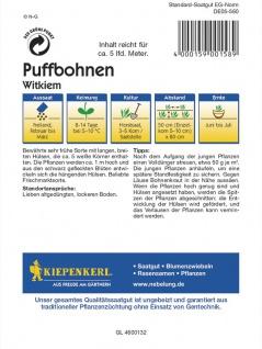 Puffbohnen Witkiem Grosse Bohnen Frühe Weisskeimige - Vorschau 2