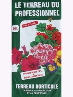 50L Blumenerde in echter Gärtnerqualität mit hohem Weißtorfanteil, Ton + Dünger , Grundpreis: 0.18 € pro 1 l