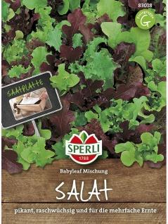 Salat (Babyleaf Mischung) Saatteppich (12, 5cm x 40cm)