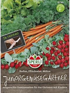 Juniorgemüsegärtner Radies Pflücksalat Möhre Saatband 5mtr , Grundpreis: 0.60 € pro 1 m