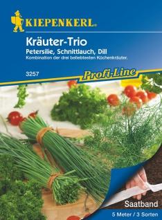 Kräuter-Trio Petersilie, Schnittlauch, Dill, Saatband 5mtr , Grundpreis: 0.56 € pro 1 m