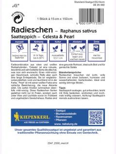 Saatteppich Radieschen Celesta & Pearl (15cm x 150cm) - Vorschau 2