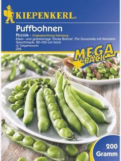 Puffbohnen Grosse Bohnen Piccola grünkernig 200g , Grundpreis: 21.95 € pro 1 kg