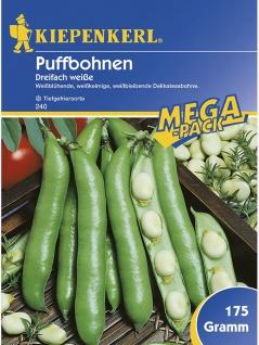 Puffbohnen Grosse Bohnen Dreifach Weisse 175gr , Grundpreis: 1.71 € pro 100 g