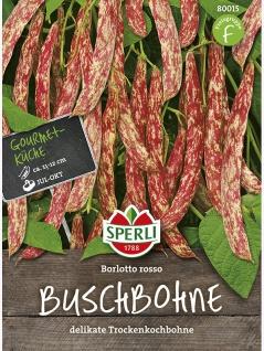 Buschbohne Borlotto rosso