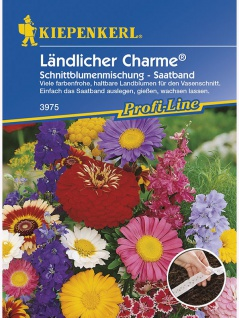 Ländlicher Charme Schnittblumenmischung Saatband 5mtr , Grundpreis: 0.60 € pro 1 m