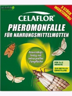 Pheromon Falle Celaflor für Nahrungsmittelmotten 9 Fallen