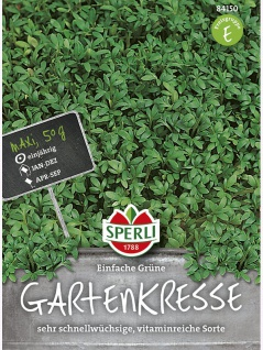 Kresse, Einfache Grüne, Maxipack 50g , Grundpreis: 0.04 € pro 1 g