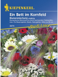 Blumenmischung Ein Bett im Kornfeld