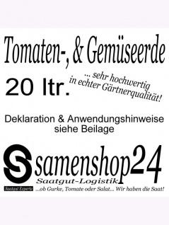 Tomatenerde 20ltr Gemüseerde in Gärtnerqualität , Grundpreis: 0.20 € pro 1 l