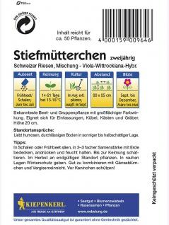Viola Stiefmütterchen Schweizer Riesen Mischung - Vorschau 2