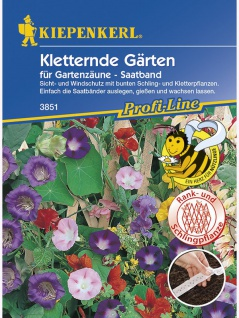 Kletternde Gärten Kletterpflanzenmischung Saatband 5mtr , Grundpreis: 0.60 € pro 1 m