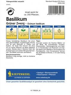 Basilikum Fine Verde Grüner Zwerg - Vorschau 2