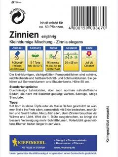 Zinnia elegans Zinnien kleinblumige Mischung - Vorschau 2