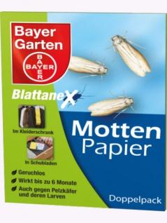 Bayer Garten Mottenpapier 2 x 10 Blatt