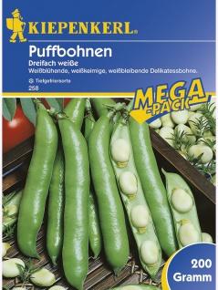 Puffbohnen Grosse Bohnen Dreifach Weisse 200gr , Grundpreis: 12.95 € pro 1 kg