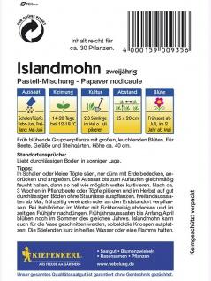 Papaver nudicaule Islandmohn pastellfarbende Mischung - Vorschau 2