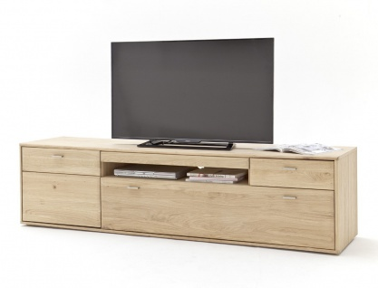 Lowboard Torrent 4 Eiche bianco massiv 214x56x52 TV-Möbel TV-Schrank
