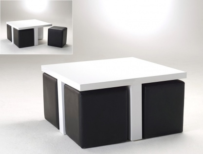couchtisch weiss mit hocker g nstig online kaufen yatego. Black Bedroom Furniture Sets. Home Design Ideas
