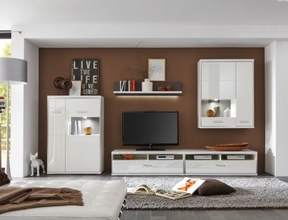 tv m bel hochglanz wei online bestellen bei yatego. Black Bedroom Furniture Sets. Home Design Ideas
