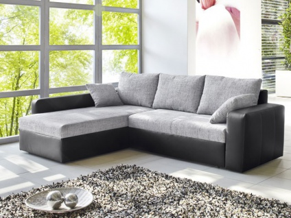 kunstleder couch schwarz g nstig kaufen bei yatego. Black Bedroom Furniture Sets. Home Design Ideas