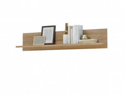 Wandregal Hauke 10 Alteiche 125x26x22 cm Wandboard Regal Wohnzimmer