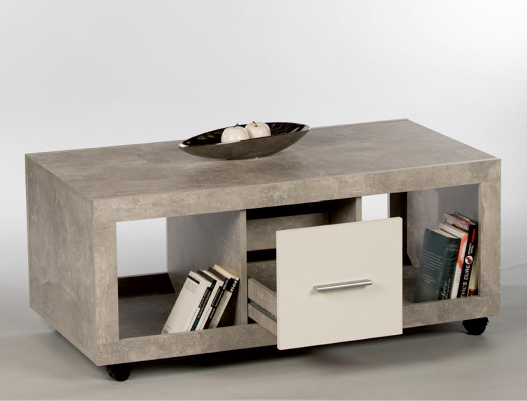 couchtisch sven 115x60x50 cm beton dekor sofatisch auf. Black Bedroom Furniture Sets. Home Design Ideas