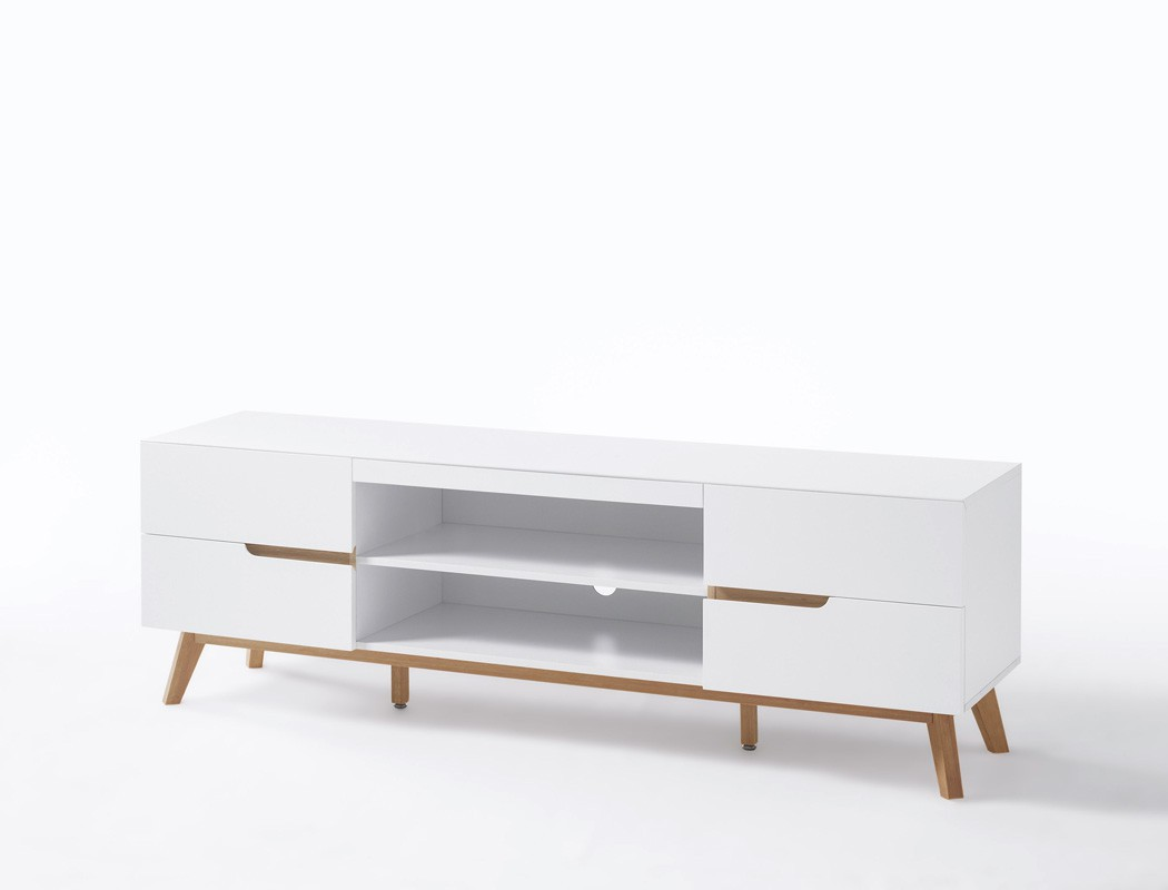 lowboard celio 1 wei eiche 169x56x40 cm tv board tv m bel schrank kaufen bei vbbv gmbh co kg. Black Bedroom Furniture Sets. Home Design Ideas
