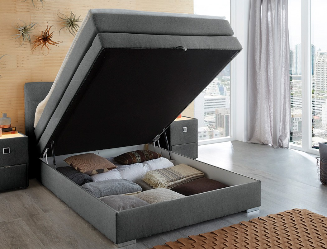 boxspringbett amalina 140x200 braun mit bettkasten topper hotelbett kaufen bei vbbv gmbh co kg. Black Bedroom Furniture Sets. Home Design Ideas