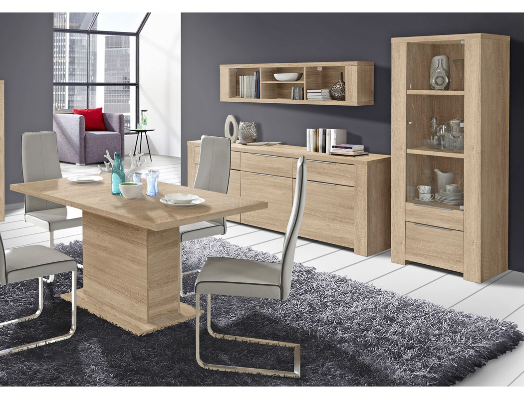 h ngeregal calvin 14 eiche sonoma 169x40x28 wandregal regal wohnzimmer kaufen bei vbbv gmbh. Black Bedroom Furniture Sets. Home Design Ideas