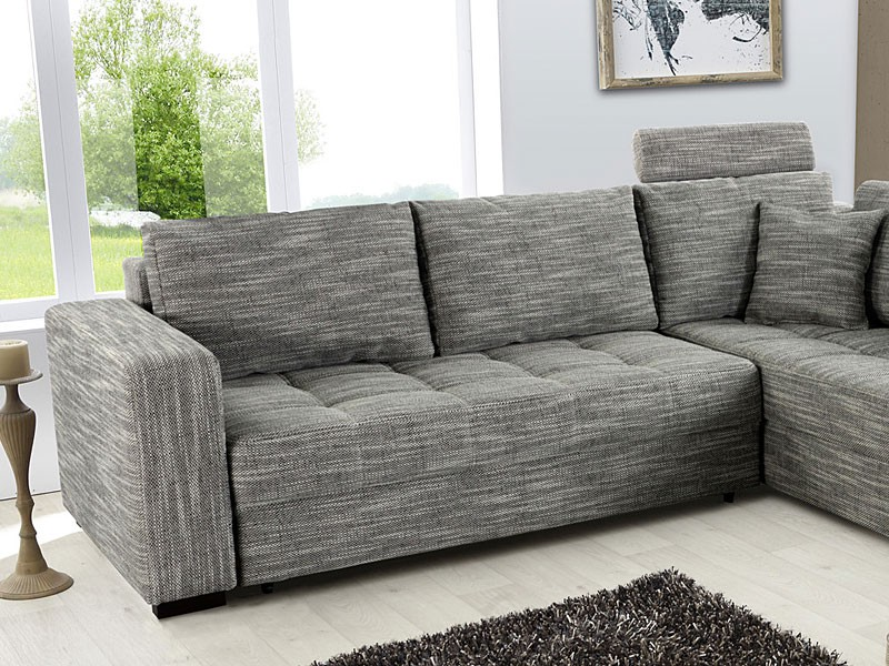 polsterecke aurum grau 267x221cm bettfunktion sofa couch eckcouch kaufen bei vbbv gmbh co kg. Black Bedroom Furniture Sets. Home Design Ideas