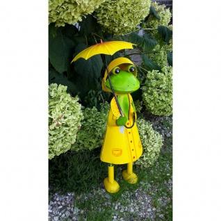 Gartenfigur Frosch mit Schirm