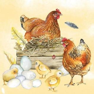 20 Servietten Hühner mit Küken