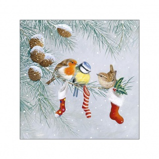 20 Servietten Weihnachten Vögel