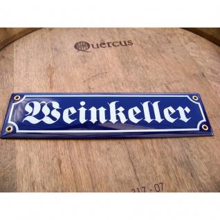 Emaille Straßenschild Weinkeller