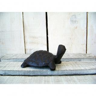 Schildkröte Gusseisen Gartenfigur klein