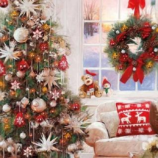 20 Servietten Weihnachtszimmer - Vorschau 1