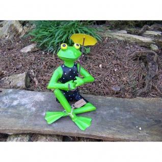 Gartenfigur Ottilie Bikini Frosch