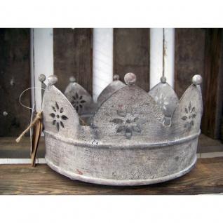 Krone Tablett aus Metall