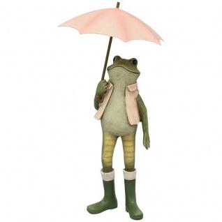Frosch mit Schirm und Stiefeln