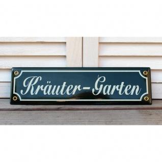 Emaille Schild Kräutergarten