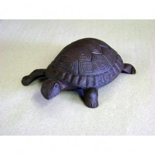 Gartenfigur Schildkröte Gusseisen