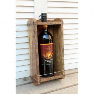 Flaschenhalter Nostalgie Holz