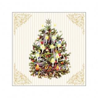 20 Servietten Weihnachtsbaum creme