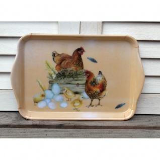 Tablett Hühner und Küken