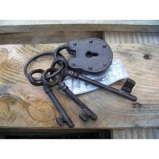 Schlüsselbund mit Schloss Gusseisen