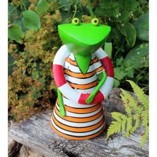 Zaunhocker Frosch mit Rettungsring