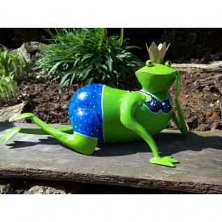 Gartenfigur Frosch Helga Bikini