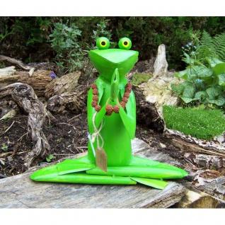 Gartenfigur Yoga Frosch